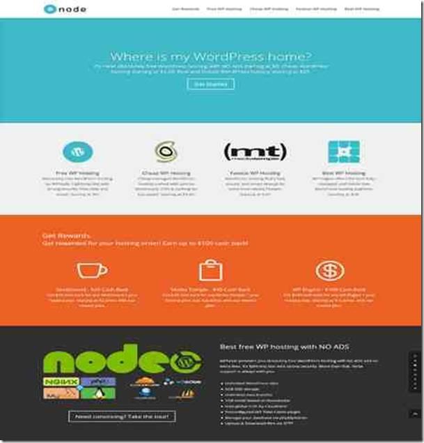 wpnode hébergement WordPress gratuit