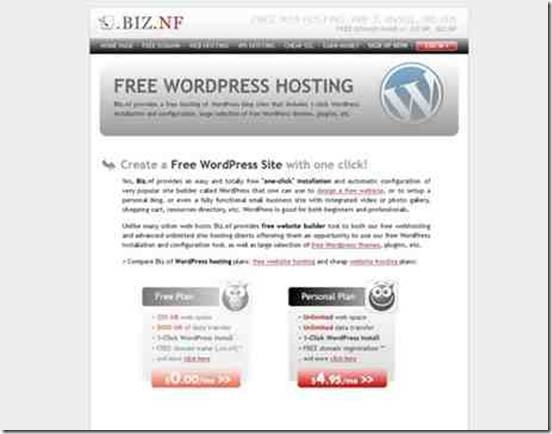 service hébergement wordpress gratuit sans pub