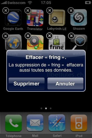 supprimer application iphone.