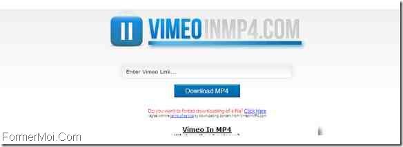 VimeoInMp4 Télécharger Vimeo Videos