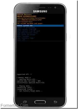 Samsung Galaxy J3 2018 formater