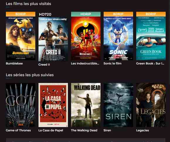 films et séries en streaming VF et VOSTFR