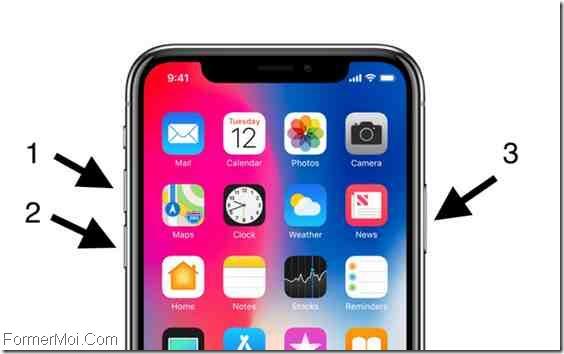 forcer redémarrage iPhone X / 8 Plus