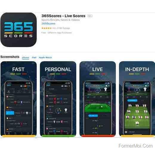 365Scores ios app