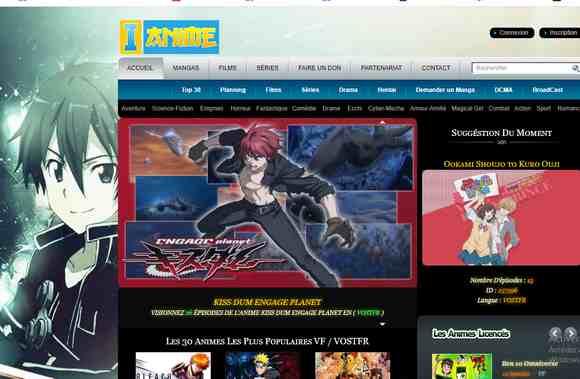 regarder des animes (manga) en VF et VOSTFR