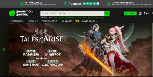 Green Man Gaming jeux vidéo en ligne